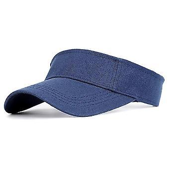 כובע שמש ספורט, מגן כותנה מתכוונן Uv הגנה קרם הגנה כובע(חיל הים)