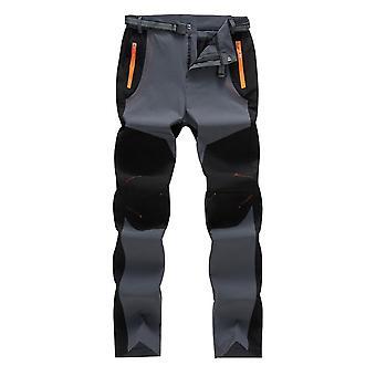Men's كتلة اللون مستقيم الساق جيب السراويل السراويل