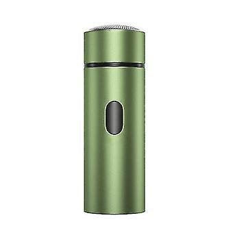 Rasoir électrique portable pour hommes, tondeuse à barbe rechargeable USB (vert)