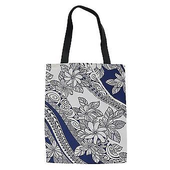 Bolsa de tote étnica polinésia Mulheres'saco de compras portátil