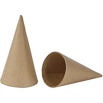 10 Papir Mache 14cm Kjegler å dekorere   Papir Mache Figurer   Papier Mache