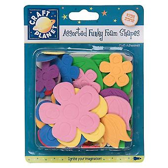 Självhäftande skum blomma former för barn hantverk - Skala & Stick