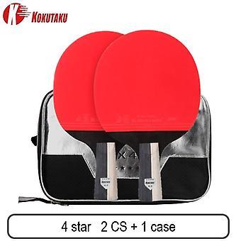 Kokutaku ittf profi 4/5/6 Sterne TischtennisSchläger Carbon Tischtennis Schläger Schläger Paddel Set Pickel aus Gummi mit Tasche