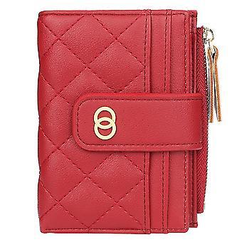 Ladies multi-card slot short coin purse zipper card holder