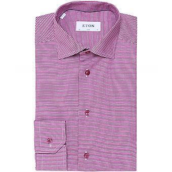 Chemise à carreaux Eton Slim Fit Grid