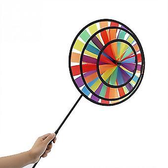 Windmill Pinwheel Sports Toy Rainbow Wheel Kids Outdoor Toy