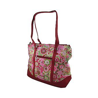 Hadaki Hannah's Tote Jazz Ruby Print Oversized Bag