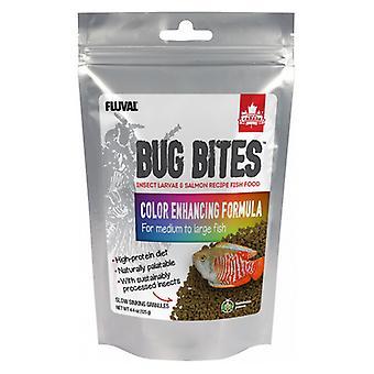 Fluval Bug Bites Vzorec pro zvýšení barvy pro středně velké ryby - 4,4 oz