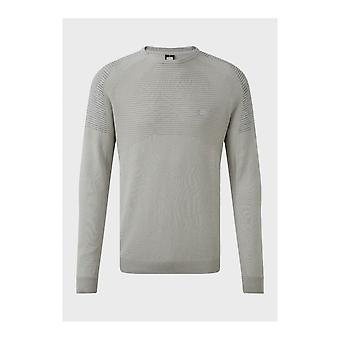 883 Police Ducking Cotton Ribbed Grey Knitwear Jumper
