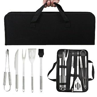 Bbq Tools Set Stainless Steel Grill Cooking Utensil Barbecue Portable Bag