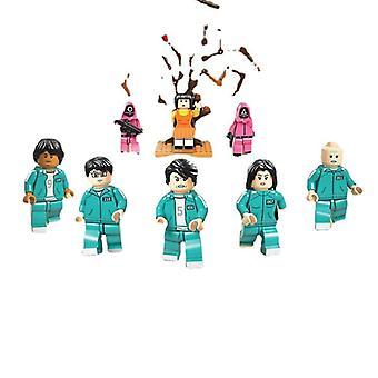 Bläckfisk spel byggstenar 123 trä människor monterade modell leksaker