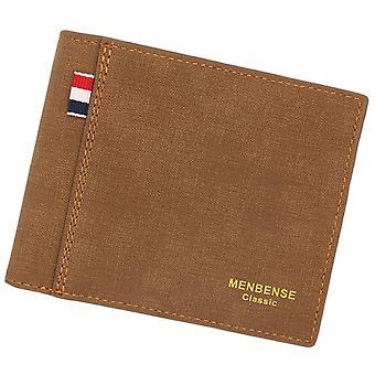 Herren Geldbörse Geldbeutel Einfarbig Leder Business Kurze Brieftasche Berühmte Vintage Männliche Geldbörsen Geldbörse