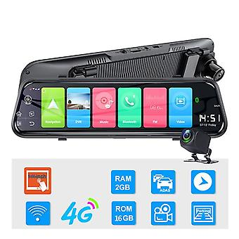 Bluetooth 10g Android 8.1 Driving Recorder Gps Navigation Hd Car Rearview Mirror