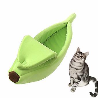 Slaapzak voor katten en honden om warm te blijven in de winter en diepe slaap (groen)