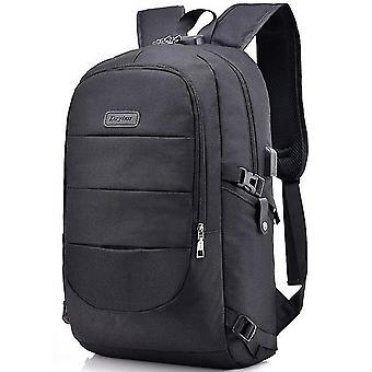 Multifunktionell affärsryggsäck Stöldskydd Usb Laddning Backpackblack