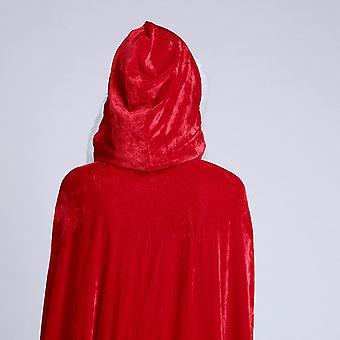 Silktaa Christmas Cape Santa Claus Hooded Cape Robe Holiday Role-playing Props