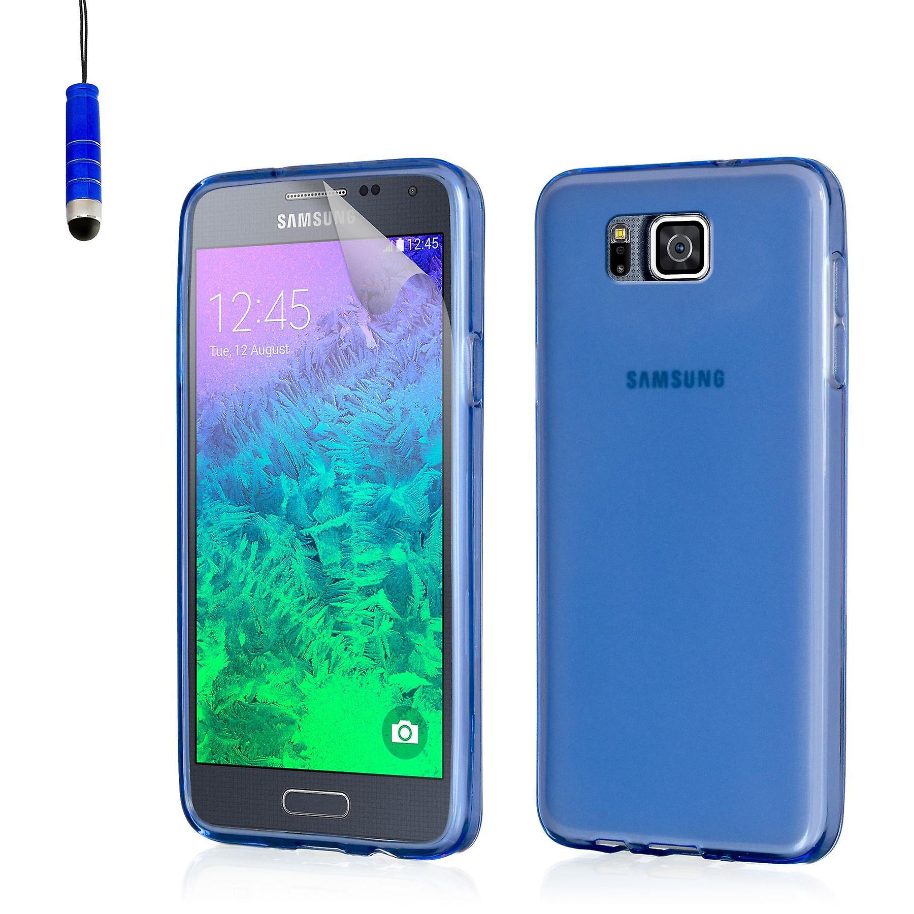 Crystal gel case for Samsung Galaxy Alpha SM-G850 - Deep Blue