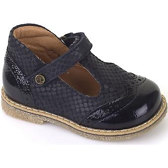 Froddo Girls G2140030-2 T-bar Shoes Navy Patent