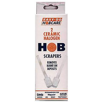 Pack de 2 facile Do Hobcare céramique halogène Hob grattoirs de Caraselle