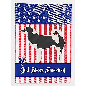 Carolines skatter BB8419CHF Grønland hunden amerikansk flagg lerret huset størrelse