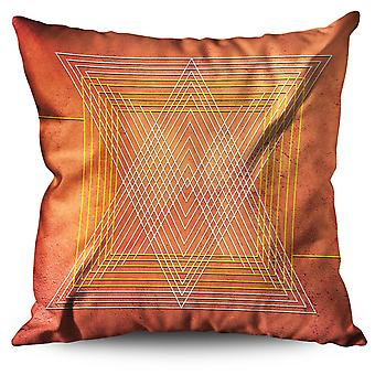 Triangle Shape Linen Cushion 30cm x 30cm | Wellcoda