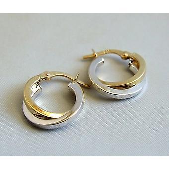 14 k bicolor earrings
