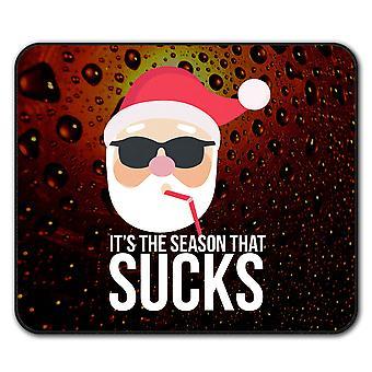 Weihnachtsmütze lustige Anti-Rutsch-Mauspad Pad 24 x 20 cm | Wellcoda
