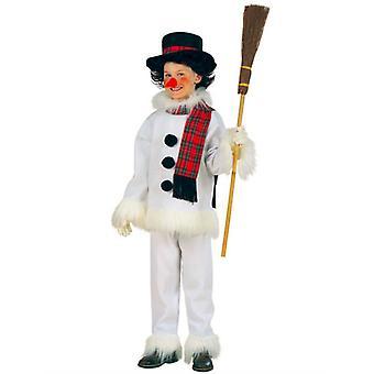 Lumiukko puku (takki housut hattu huivi nenä) Lasten