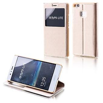 Ventana de Booktasche oro para Huawei Nova 5.0