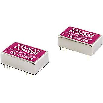 TracoPower THD 15-4813WIN DC/DC converter (print) 48 V DC 15 V DC 1 A 15 W No. of outputs: 1 x
