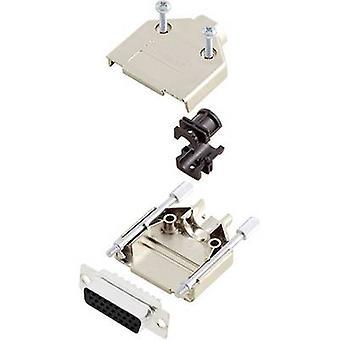 encitech DTPK09-M-HDS15-K 6355-0056-11 D-SUB receptacle set 180 ° Number of pins: 15 Solder bucket 1 Set