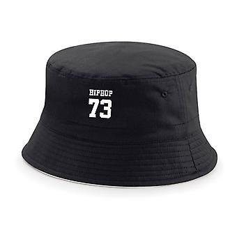 HIPHOP73 Bucket Hat Black