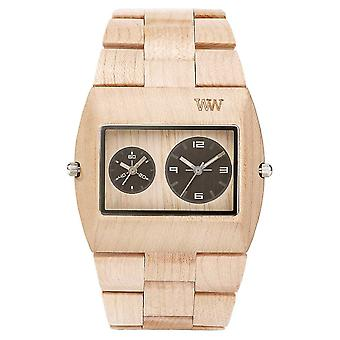 WeWood Mens Jupiter RS Beige Wooden Strap 70331200 Watch