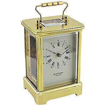 David Peterson Grande Obis 8 Day Movement Carriage Clock - Gold
