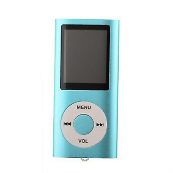 Schlanker MP3-Player mit FM Radio Support-Blue