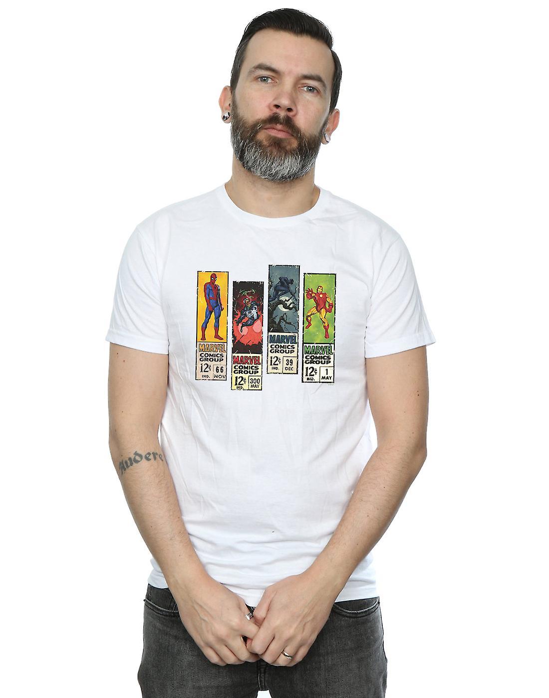 Marvel Men's Comic Strips T-Shirt