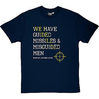 Martin Luther King målsökande missiler citerar mäns T-Shirt