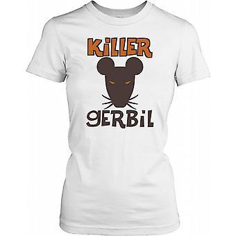 Tueur gerbille Avec Rouge Yeux Ladies T-shirt