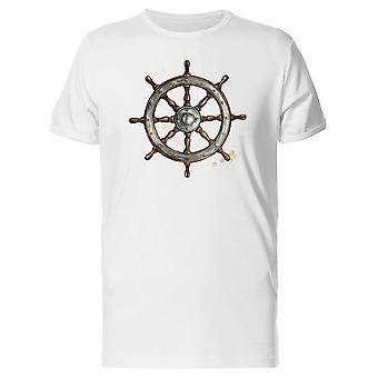 Ship Steering Wheel  Tee Men's -Image by Shutterstock