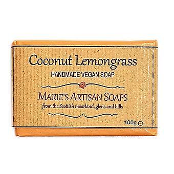 Marie's Artisan zepen Vegan Handmade Soap 100g - kokosnoot & citroengras