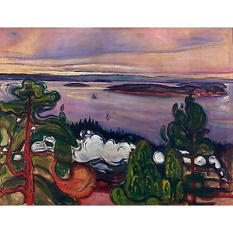 Zugrauch, Edvard Munch, 50x38cm
