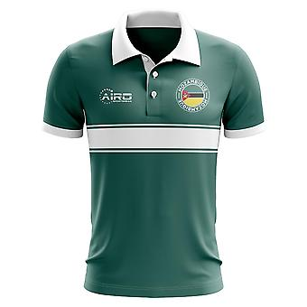 Mozambiku koncepcja koszula Polo z paskiem (zielony)