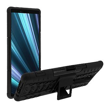 Shockproof Stand case, Backcover for Sony Xperia 1 & Kickstand – Black