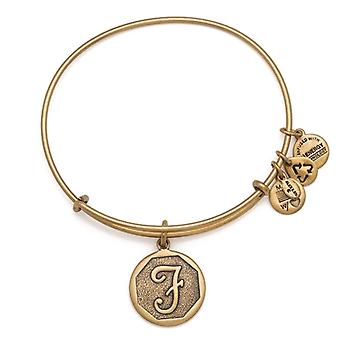 Alex and Ani Initial F Gold Bangle A13EB14FG