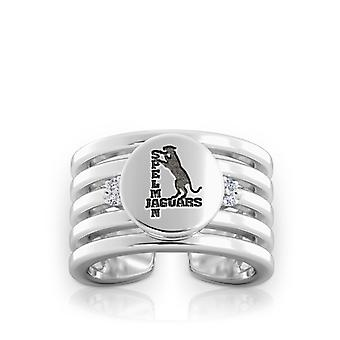 Spelman College Engraved Sterling Silver Diamond Multiband Cuff Ring