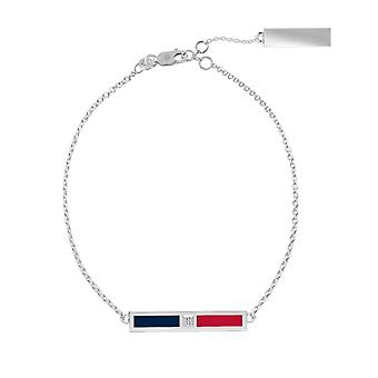 Minnesota Twins Sterling Silver Diamond Chain Chain Bracelet In Blue and Red