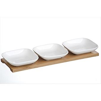 Arthur Price Share 3 Piece Serving Set on Bamboo Base