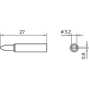 Weller XNT C Soldering tip Chisel-shaped Tip size 3.2 mm Content 1 pc(s)