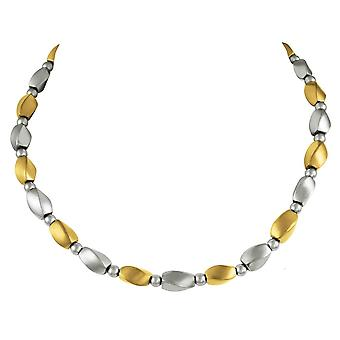 Eternal Collection Visage Silver And Gold Hematite Beaded Necklace