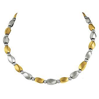 المجموعة الأبدية Visage الفضة والذهب قلادة الخرز الهيماتيت